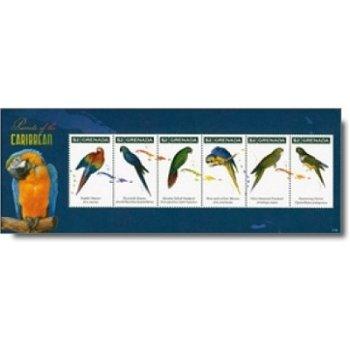 Papageien - Briefmarken-Block postfrisch, Grenada
