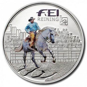 Silbermünze Pferde, Westernreiten - Andorra