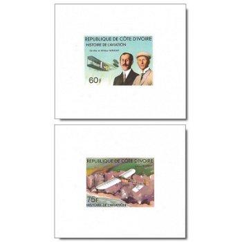 Geschichte der Luftfahrt - 5 Luxusblocks postfrisch, Katalog-Nr. 511B-515B, Elfenbeinküste