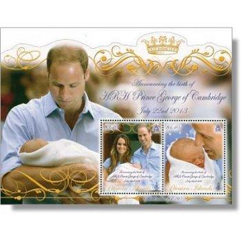 Königliches Baby Prinz George - Briefmarken-Block postfrisch, Pitcairn