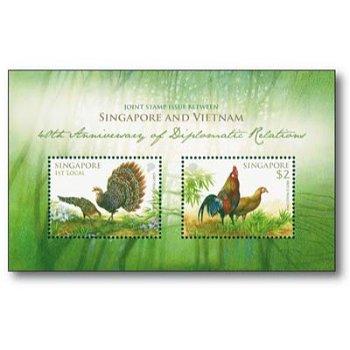 Fasan und Huhn - Briefmarken-Block postfrisch, Singapur