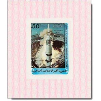 Raumfahrt - 4 Luxusblocks postfrisch, Katalog-Nr. 625-628, Komoren