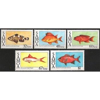 Fische –fünf Briefmarken postfrisch, Katalog-Nr. 600-604, Samoa
