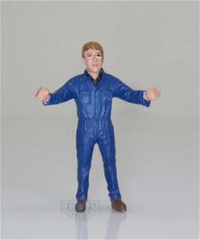 Figur:Farmer im blauer Overall(AT Collections, 1:32)