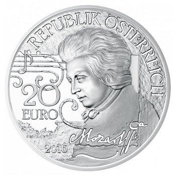 Mozart: Der Mythos, 20 Euro Silbermünze, Österreich
