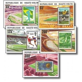 Fußball-Weltmeisterschaft 1978, Argentinien – Briefmarken postfrisch, ungezähnt, Katalog-Nr. 700-704