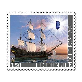 Edelsteine der Philatelie: KYANIT-Briefmarke postfrisch, Liechtenstein