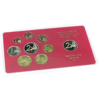 Kursmünzensatz 2008 im Folder, Polierte Platte (ohne Auswahl der verschiedenen Prägestätten), Deutsc