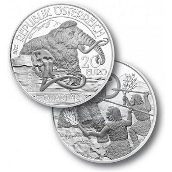 Lebendige Urzeit Quartär, 20 Euro Silbermünze, Österreich