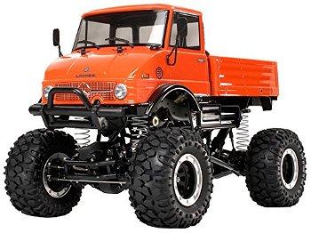 RC-Modell:MB Unimog 406, orange(Tamiya, 1:10)