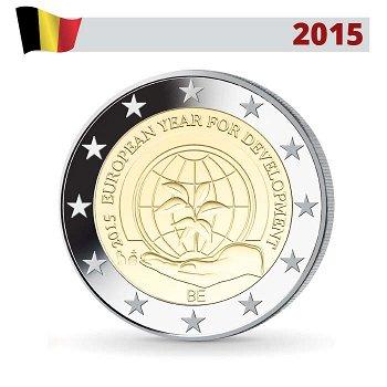 Europäisches Jahr der Entwicklung, 2 Euro Münze 2015, Belgien