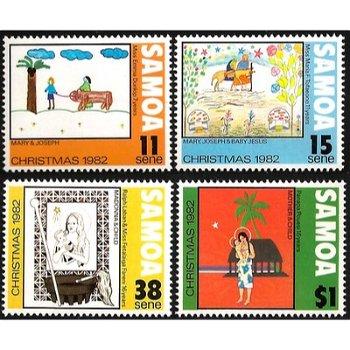 Weihnachten – vier Briefmarken postfrisch, Katalog-Nr. 490-493, Samoa