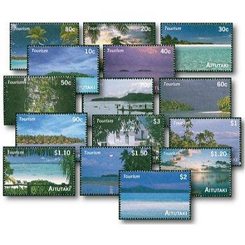 Südsee-Paradies - 15 Briefmarken postfrisch, Aitutaki
