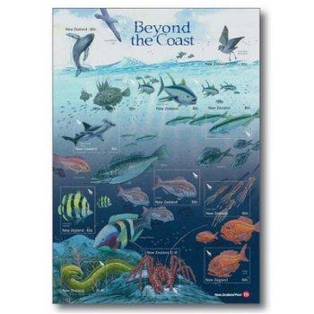 Meerestiere - Briefmarken-Block postfrisch, Neuseeland