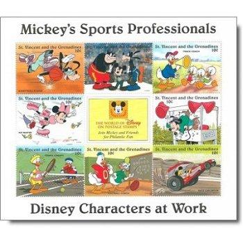 """Disney """"Sport"""" - Briefmarken-Block postfrisch, St. Vincent und Grenadinen"""