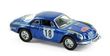 Modellauto:Renault Alpine A 110 - Rallye 1973 - mit # 18, blau(Norev, 1:87)