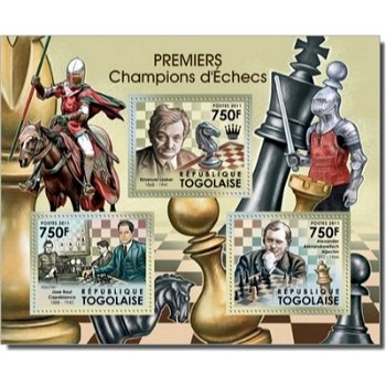 Weltmeister im Schach - Briefmarken-Block postfrisch, Togo