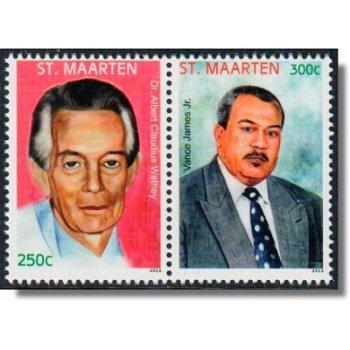 Helden - 2 Briefmarken im Paar, Sint Maarten