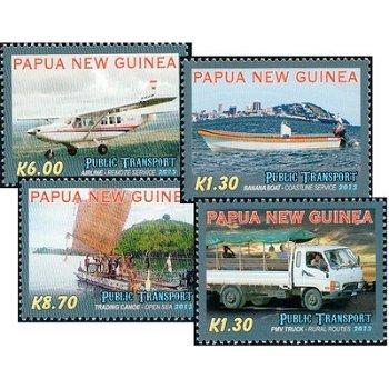 Transportmittel - 4 Briefmarken postfrisch, Papua Neuguinea