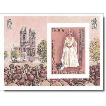 25. Jahrestag der Krönung von Königin Elisabeth II. – Briefmarken-Block postfrisch, ungezähnt, Katal