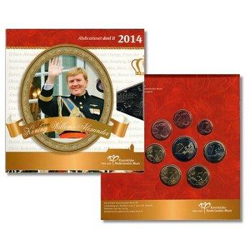Kursmünzensatz 2014, 2. Teil / Abdankung - Niederlande, Stempelglanz