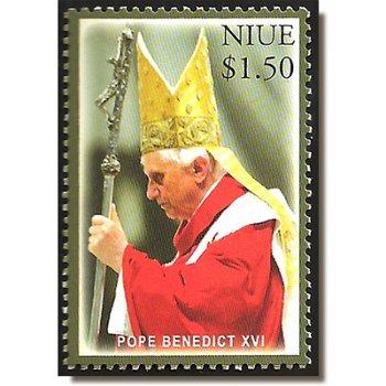 Papst Benedikt XVI. - Briefmarke postfrisch, Niue