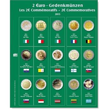 SAFE Münzblatt für 2 Euro Münzen 2015, Safe 7341-14