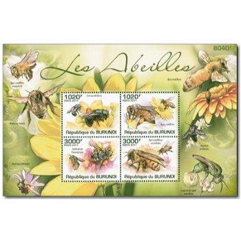Honigbienen - Briefmarken-Block postfrisch, Burundi
