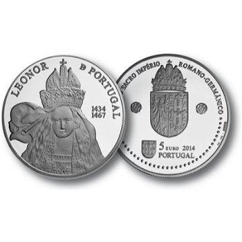 Königin Eleonore, 5 Euro Silbermünze Portugal