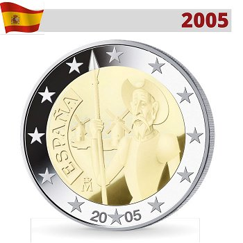 2 Euro Münze 2005, Don Quijote, Spanien
