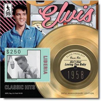 """Elvis Presley """"Ain't that Loving You Baby"""" - Briefmarken-Block postfrisch, Liberia"""