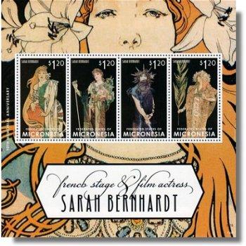 90. Todestag von Sarah Bernhardt - Briefmarken-Block postfrisch, Micronesien