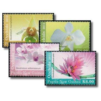 Orchideen - 4 Briefmarken postfrisch, Katalog-Nr. 1815-1818, Papua-Neuguinea