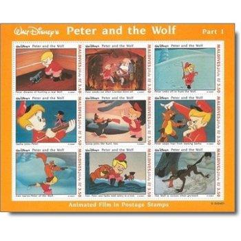 """Disney """"Peter und der Wolf"""" - Briefmarken-Block postfrisch, Malediven"""