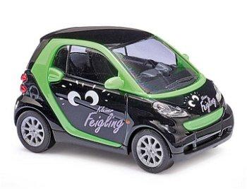 Modellauto:Brabus Smart Fortwo von 2007- Kleiner Feigling -(Busch, 1:87)