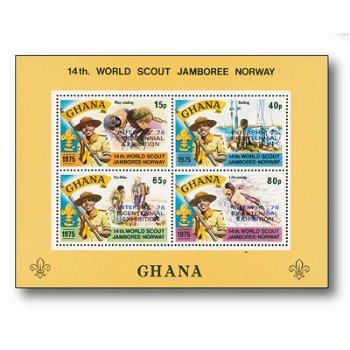 Weltpfadfindertreffen - Briefmarkenblock postfrisch, Ghana
