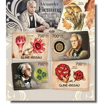 Alexander Fleming / Pilze - Briefmarken-Block postfrisch, Katalog-Nr. 6097-6100, Guinea-Bissau