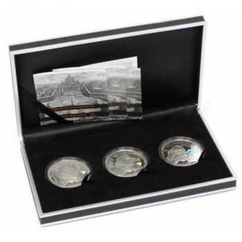Heiligsprechung der Päpste - 3 Silbermünzen, Cook Inseln
