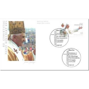 80. Geburtstag von Papst Benedikt XVI. - Ersttagsbrief, Deutschland