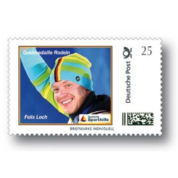 Winter Games 2014, tobogganing, Felix Loch - brand individually mint never hinged, Germany