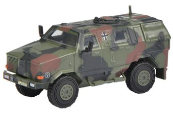 Militaria-Modell:Dingo I Allschutzfahrzeug, flecktarn, - Bundeswehr -(Schuco, 1:87)