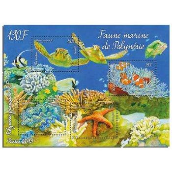 Unterwasserwelt - Briefmarken-Block postfrisch, Polynesien