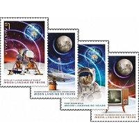 50 Jahre Mondlandung: Apollo 11 - 4 Briefmarken postfrisch, Australien