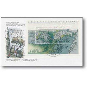 Deutsche Nationalparks, Sächsische Schweiz - Ersttagsbrief, Deutschland