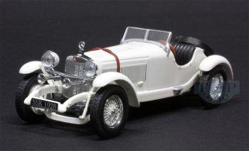 Modellauto:Mercedes-Benz SSK von 1928, weiß(IXO Museum, 1:43)