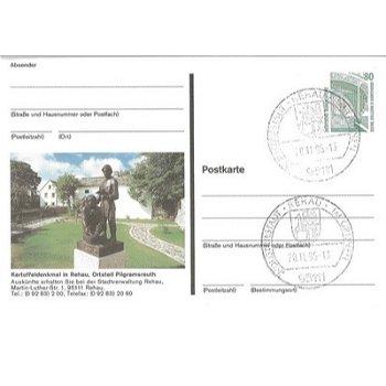 8673 Rehau / Pilgramsreuth - picture postcard & quot; potato monument & quot;