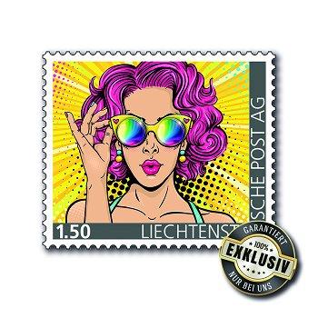 Die Sonnenbrille mit echten Gläsern - Briefmarke postfrisch, Liechtenstein