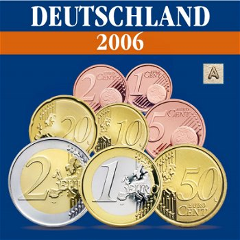 Germany - coin set 2006, mint mark A