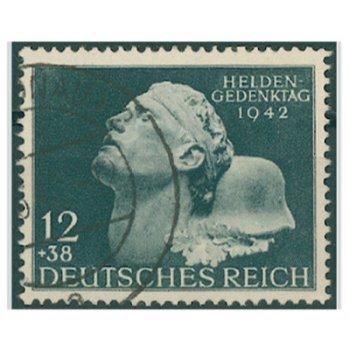 Heldengedenktag 1942 - Briefmarke, Katalog-Nr. 812, gestempelt, Deutsches Reich