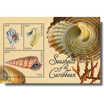 Muscheln der Karibik - Briefmarken-Block postfrisch, Grenada